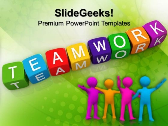 Teamwork Blocks Business PowerPoint Templates And PowerPoint Themes 0912