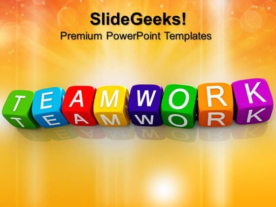 Teamwork Blocks Shapes PowerPoint Templates And PowerPoint Themes 0612
