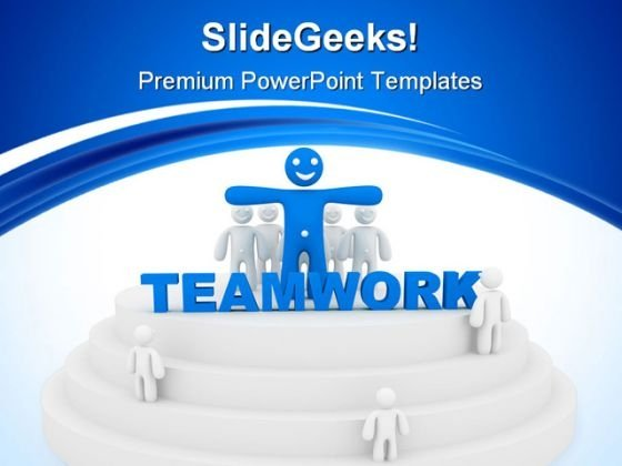 Teamwork Business Leadership PowerPoint Templates And PowerPoint Backgrounds 0911