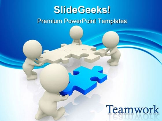 Teamwork Business PowerPoint Themes And PowerPoint Slides 0511