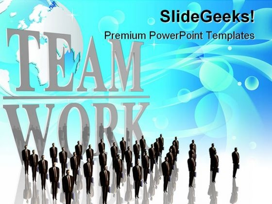 Teamwork Business PowerPoint Themes And PowerPoint Slides 0711