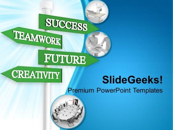 Teamwork Business Signpost Success PowerPoint Templates Ppt Backgrounds For Slides 0313