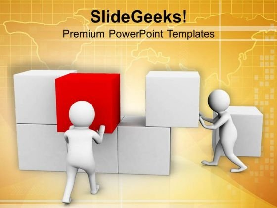 Teamwork Can Make A Strong Base For Success PowerPoint Templates Ppt Backgrounds For Slides 0713