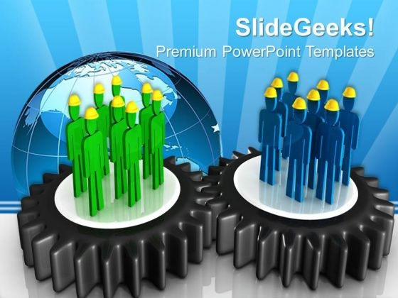 Teamwork Concept Gearwheels PowerPoint Templates And PowerPoint Themes 0612
