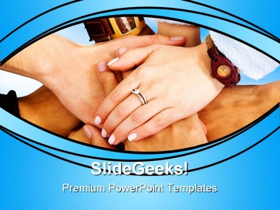 Teamwork Hands Together Handshake PowerPoint Themes And PowerPoint Slides 0811