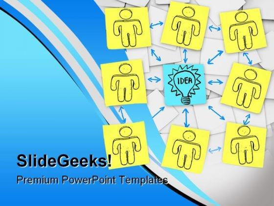 Teamwork Idea Business PowerPoint Template 0910