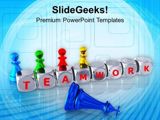Teamwork Improves The Financial Condition PowerPoint Templates Ppt Backgrounds For Slides 0513