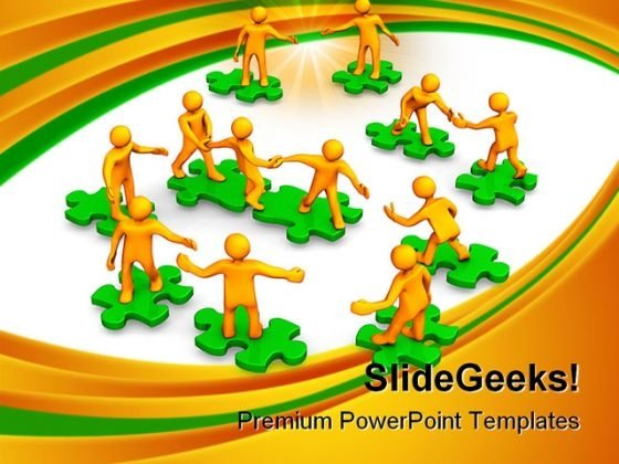 Teamwork Leadership PowerPoint Themes And PowerPoint Slides 0911
