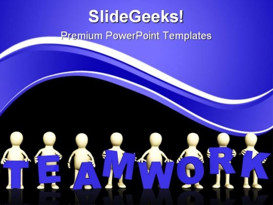 Teamwork People PowerPoint Themes And PowerPoint Slides 0511
