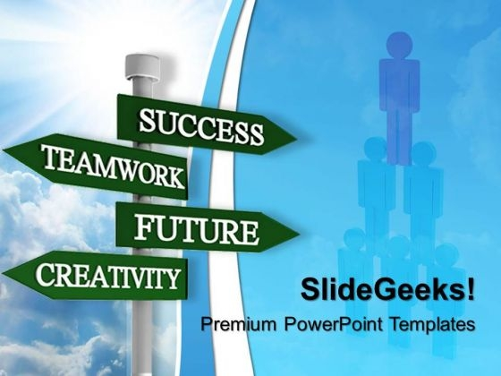 Teamwork Signpost01 Success PowerPoint Templates And PowerPoint Themes 0512