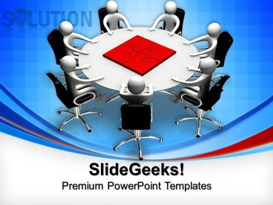 Teamwork Solution Puzzle Pieces Business PowerPoint Templates And PowerPoint Themes 0712