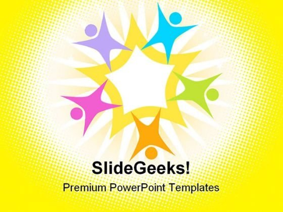 Teamwork Star Shapes PowerPoint Templates And PowerPoint Backgrounds 0511