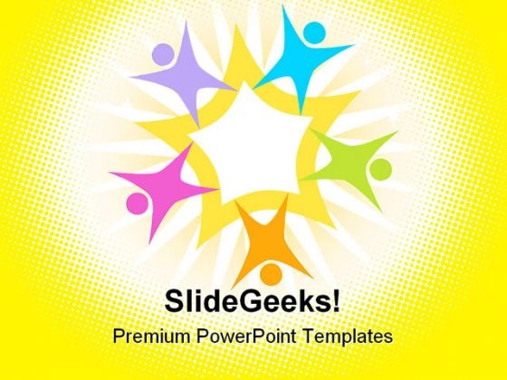 Teamwork Star Shapes PowerPoint Themes And PowerPoint Slides 0511