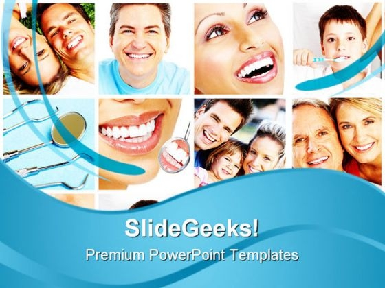 Teeth Collage Health PowerPoint Themes And PowerPoint Slides 0511