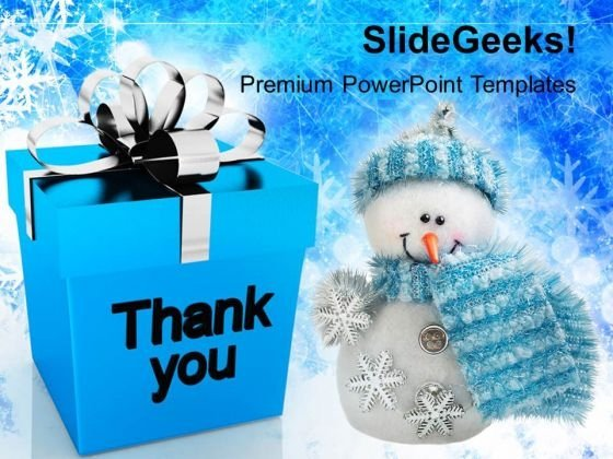 Thank You Christmas Presents Festival PowerPoint Templates Ppt Backgrounds For Slides 1112