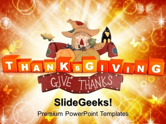 Thanksgiving Cubes Festival PowerPoint Templates And PowerPoint Themes 1012