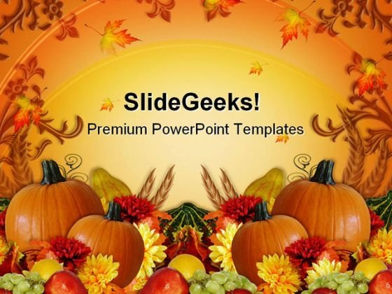 Thanksgiving Harvest Fall Festival PowerPoint Templates And PowerPoint Backgrounds 0811