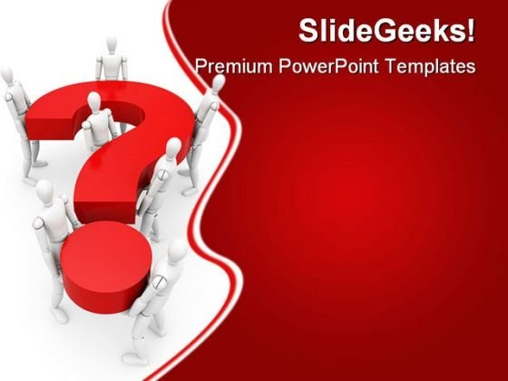 The General Question Business PowerPoint Templates And PowerPoint Backgrounds 0611