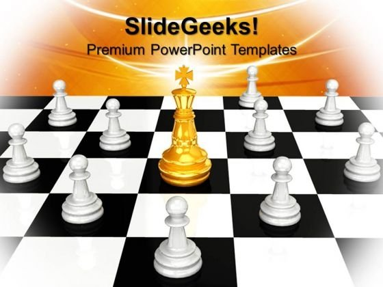 The King Leadership PowerPoint Templates And PowerPoint Themes 0912