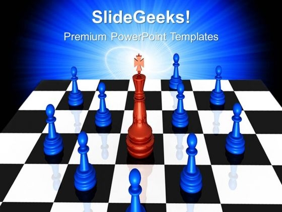 The Leader King Game PowerPoint Templates And PowerPoint Themes 0612