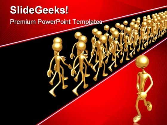 The Other Way Business PowerPoint Themes And PowerPoint Slides 0811