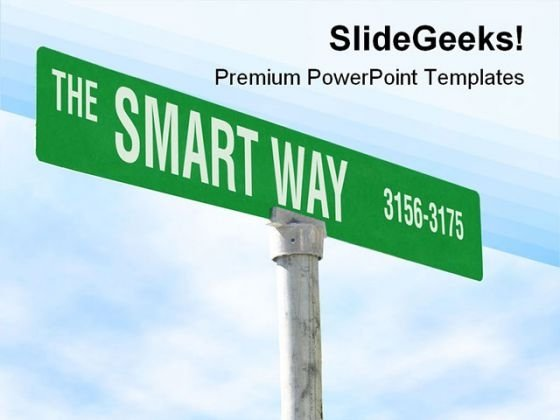 The Smart Way Symbol PowerPoint Themes And PowerPoint Slides 0811