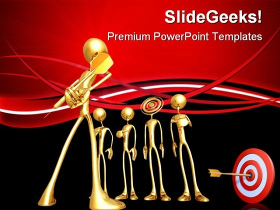 The Target Business PowerPoint Themes And PowerPoint Slides 0811