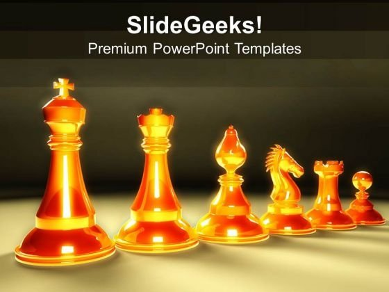 Theme For Rules Of Chess PowerPoint Template 1113