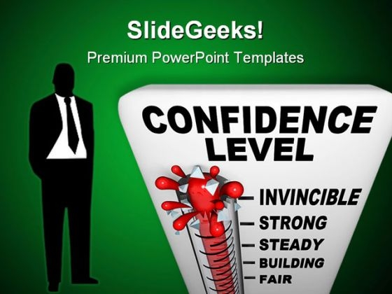 Thermometer Of Confidence Level Science PowerPoint Themes And PowerPoint Slides 0411