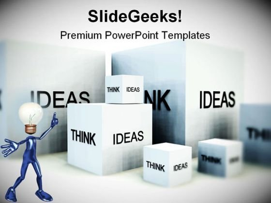 Think Of Ideas Business PowerPoint Themes And PowerPoint Slides 0411