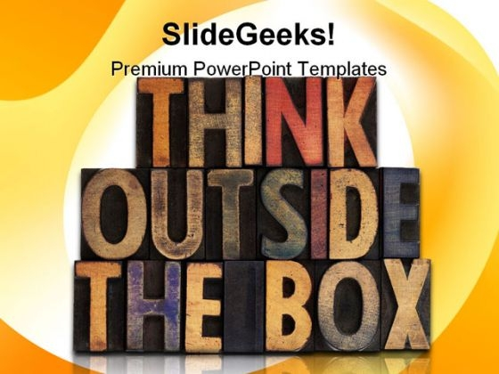 Think Outside The Box Business PowerPoint Template 0910