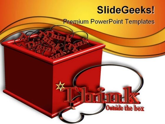 Think Outside The Box Business PowerPoint Templates And PowerPoint Backgrounds 0511