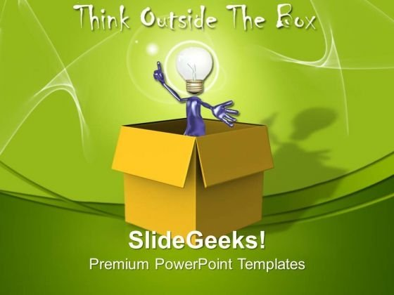 Thinking Outside The Box Idea Technology PowerPoint Templates And PowerPoint Themes 1112