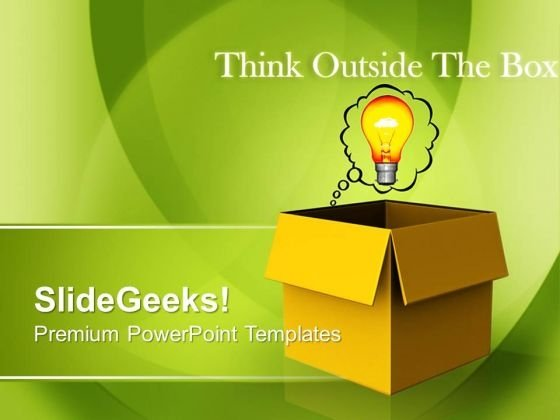 Thinking Outside The Box Technology PowerPoint Templates And PowerPoint Themes 0812