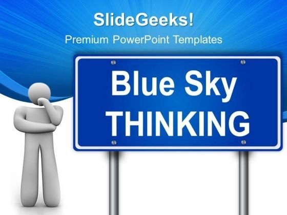 Thinking Signpost Metaphor PowerPoint Templates And PowerPoint Themes 0512