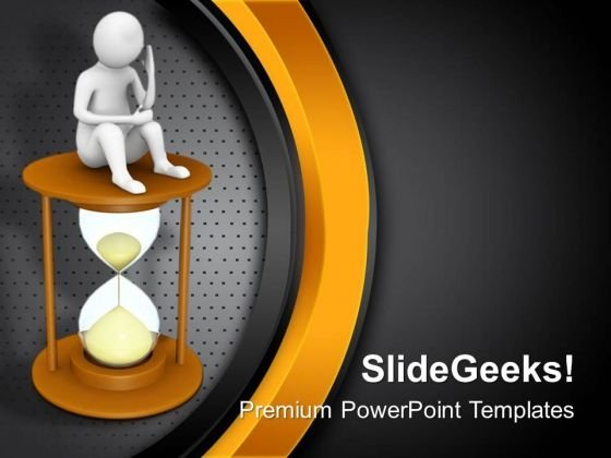 Thinking To Utilise Time PowerPoint Templates Ppt Backgrounds For Slides 0713