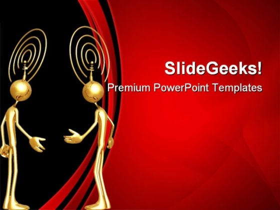 Thought Transmission People PowerPoint Themes And PowerPoint Slides 0811