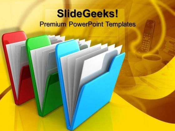 Three Computer Folders Internet PowerPoint Templates And PowerPoint Themes 1012