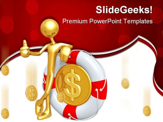 Thums Up With Dollar Money PowerPoint Themes And PowerPoint Slides 0411