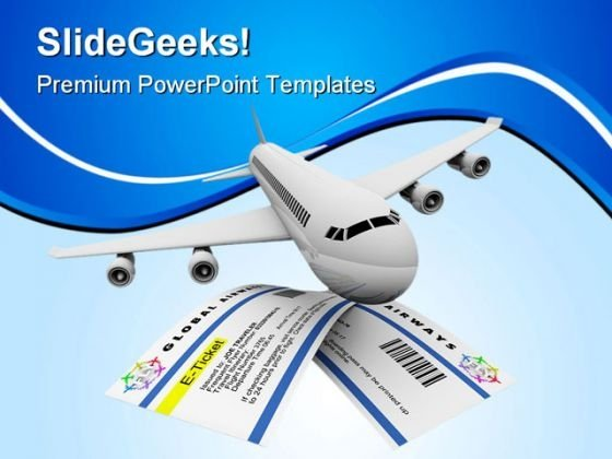 Tickets And Airplane Travel PowerPoint Themes And PowerPoint Slides 0611