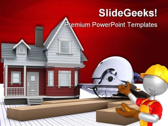 Timber House Architecture PowerPoint Themes And PowerPoint Slides 0211