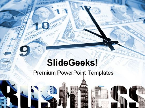Time And Money Business PowerPoint Backgrounds And Templates 1210