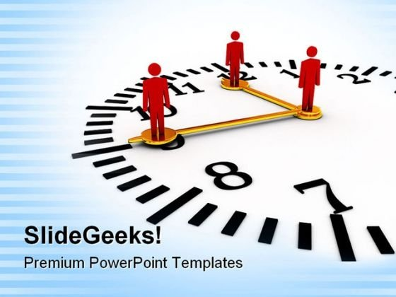 Time And Teamwork Business PowerPoint Themes And PowerPoint Slides 0711