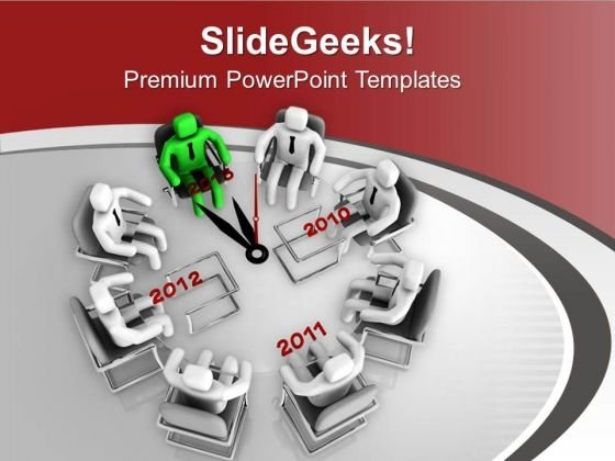 Time Based Meeting For Issue Resolve PowerPoint Templates Ppt Backgrounds For Slides 0713