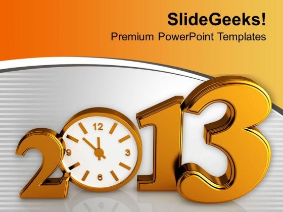 Time Concept With Clock New Year Celebration PowerPoint Templates Ppt Backgrounds For Slides 0113
