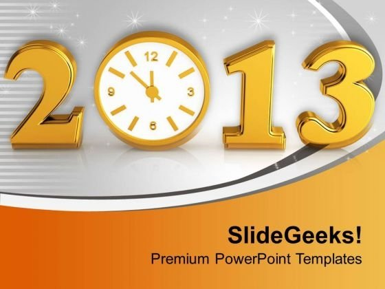 Time Concept With Clock New Year PowerPoint Templates Ppt Backgrounds For Slides 0113