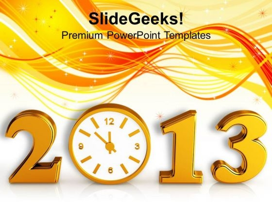 Time Concept With Clock New Year PowerPoint Templates Ppt Backgrounds For Slides 1112