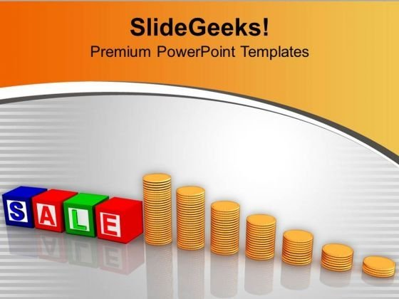 Time For End Season Sale Stack Of Coins PowerPoint Templates Ppt Backgrounds For Slides 0313