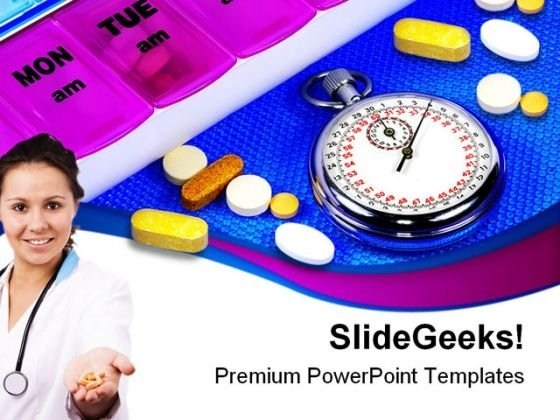Time For Medication Medical PowerPoint Themes And PowerPoint Slides 0311