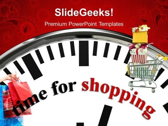 Time For Shopping Lifestyle PowerPoint Templates And PowerPoint Themes 1012